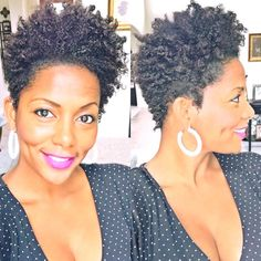 Tapered cut by jacqueline Short Natural Haircuts, Natural Hair Cuts, Natural Hair Styles For Black Women, Natural Styles, Tapered Haircut, Tapered Hairstyles, Tapered Afro, Natural Hair Moisturizer, Coily Hair
