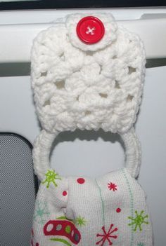 Granny Square Hanging Towel Loop Free Crochet Pattern
