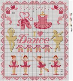 Bailarinas em Ponto Cruz Fáceis de Bordar