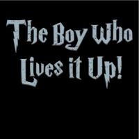 The Boy Who Lives It Up from www.LostWorldShirts.com