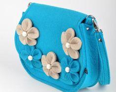 Vinous Felt Bag Bianca. Original beautiful and with by FELTTERRA
