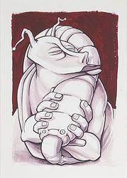 """""""Fusion 16"""" von Matthias Triet   Acryl & Filzstift auf Aquarellpapier   24 x 34 cm   www.einfachKunst.ch   Art   Basel   Schweiz"""