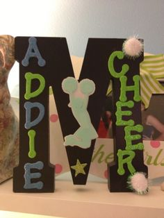 This is another gift from my little cheer sister. which is so creative and cute
