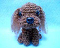 Ruby Cavalier King Charles Spaniel Crochet Dog, Canine, Amigurumi