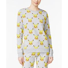 Pokemon Juniors' Pikachu Graphic Sweatshirt ($34) ❤ liked on Polyvore featuring tops, hoodies, sweatshirts, heather grey, graphic sweatshirts, mighty fine, graphic tops and heather grey sweatshirt