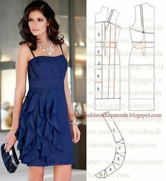Vertical ruffle dress