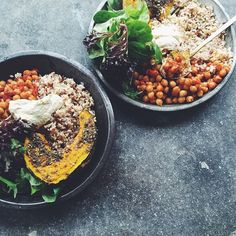 "Cloudy days call for a big warm #bowl #lunch...this is my kind of comfort food. Mediterranean Chickpeas with Za'atar Roasted Pumpkin, Brown Rice & Hummus by @talinegabriel! P.S. It's #vegan! https://feedfeed.info/bowls?img=1006807 Get the recipe and 40 more nourishing bowls from the Bowl Feed on our Website | feedfeed.info/bowls (Feed edited by @anniskk.) Remember to tag your cooking, baking, and drink making ""#feedfeed @thefeedfeed"" for a chance to be featured here and on our site."