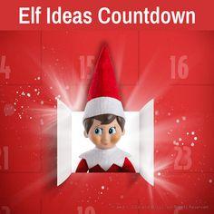 Elf on the Shelf Ideas   Elf Ideas Countdown   Countdown to Christmas Free Printable Stationery, Printable Letters, Printable Crafts, Free Printables, Days To Christmas, Christmas Tree Cards, Christmas Countdown, Christmas Decorations, Elf On The Self