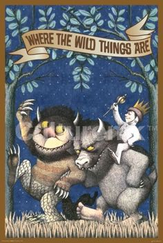 WHERE THE WILD THINGS ARE-MAX RIDING WILD THING | 24 x 36 Poster | ST5126 | Culturenik (TM)
