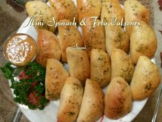 Spinach & Feta Calzones recipe by Sumayah posted on 21 Jan 2017 . Recipe has a rating of by 1 members and the recipe belongs in the Savouries, Sauces, Ramadhaan, Eid recipes category No Bake Snacks, Savory Snacks, Yummy Snacks, Real Food Recipes, Eid Recipes, Cooking Recipes, Pizza Recipes, Recipies, Eid Food