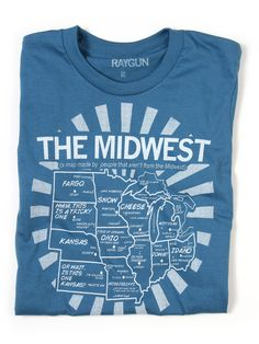 Midwest Map tshirt #midwest #usa