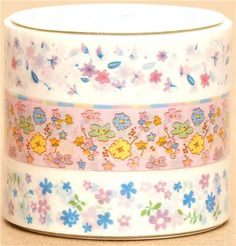 flower Sticky Tape set wild flowers Japan