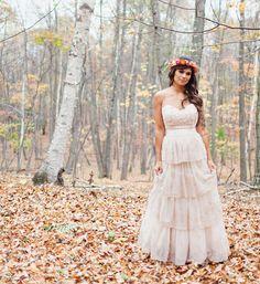 layered wedding dress by @BHLDN Weddings