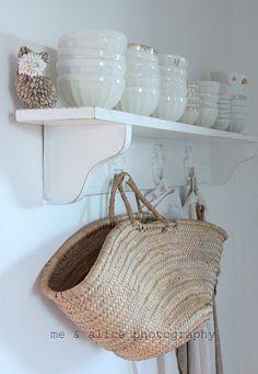 shelf with painted hooks