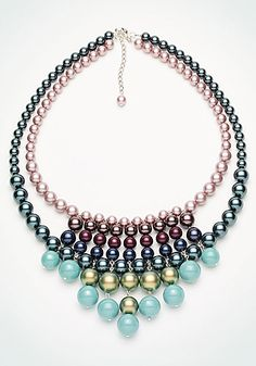 Design Project Necklace Color Parade - CREATE YOUR STYLE - Swarovski crystal pearls Downloadable PDF instructions
