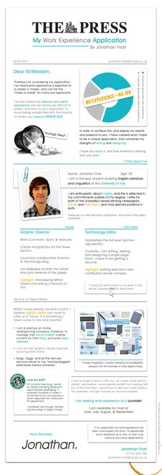 Another non-traditional resume showcasing this personu0027s graphic - traditional resume