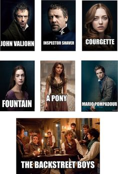 HEheheheheh, Les Miserables Characters