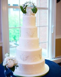 Floral Horseshoe Wedding Cake Topper