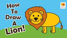 How to Draw a Lion - fun activities to do with your kids.  Learn to draw a lion with this cute tutorial