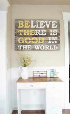 Simple and clean, yet inspiring!  Wall Art   #KBHomes