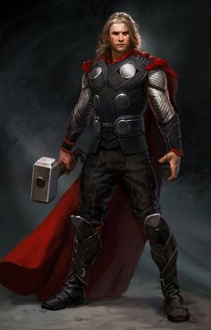 (http://beam2k.tumblr.com/post/22649023357/concept-art-by-ryan-meinerding) Gah, this is fantastic. That face! That hair! THE ARMOR! #Thor