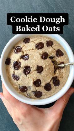 Fun Baking Recipes, Vegan Recipes, Snack Recipes, Cooking Recipes, Healthy Desserts, High Protein Desserts, Healthy Food, Healthy Peanut Butter, Love Food
