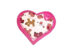 Dog Lovers Handmade Heart Brooch. by Fabrilushus on Etsy, £6.00