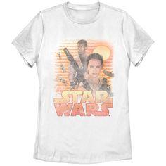 Star Wars The Force Awakens Women's - Classic Rey and Finn T Shirt