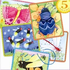 Bug Lacing Cards: Toys & Games