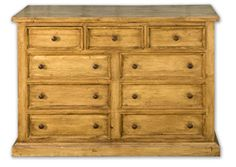 English Pine Furniture, Nine Drawer Chest Antique Pine Furniture, Barn Wood  Furniture, Shaker