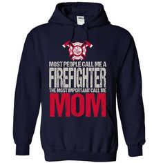 Awesome Tee Firefighter MOM T shirts