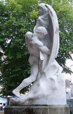 Auguste Carli : La Lutte de Jacob et de l'Ange, Clermont-Ferrand