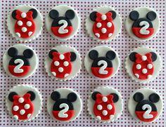 12 fondente Mickey e Minnie ispirato toppers di TopCakeDecors
