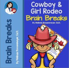 Cowboy and Cowgirl Brain Break Cards