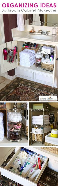 Organizing Ideas for your Bathroom! Great Organizing Ideas for your Bathroom! Cabinet Bathroom Organization Makeover - Before and After photos.Great Organizing Ideas for your Bathroom! Cabinet Bathroom Organization Makeover - Before and After photos.