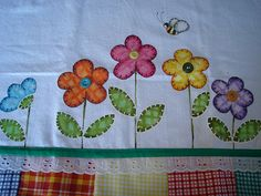 panos dde prato pintura country - Pesquisa Google Sewing Appliques, Applique Patterns, Applique Designs, Embroidery Designs, Hand Embroidery, Machine Embroidery, Hand Art, Flower Applique, Mini Quilts
