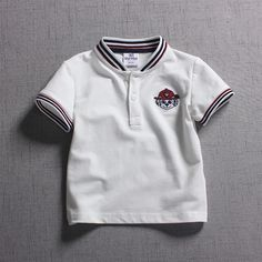 For yrs Baby Boys Polo-shirts 2018 New Design Cartoon Embroidery Dog Cotton Children Short Sleeved Polo shirts Kids Clothes Dog Design, News Design, Kids Shorts, Short Sleeve Polo Shirts, Shirt Price, Kids Outfits, Embroidery, Children, Cotton