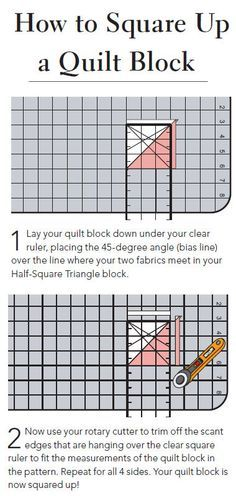 Do you square up your quilt blocks? Be sure to check out the easy quit squaring tutorial from Liz and Elizabeth Evans >>
