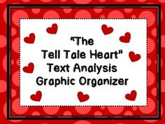 This Omega English product contains a teacher generated Text Based Analysis graphic organizer for the short story, The Tell Tale Heart by Edgar Allan Poe. In addition, you will receive a two page student handout of Prompting Analysis Sentence Starters.