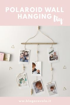 Polaroid Wall hanging Diy Hanging Polaroids, Polaroid Wall, Instax Wall, Diy Hanging, Diy Room Decor, Home Decor, Your Space, Diys, Gallery Wall