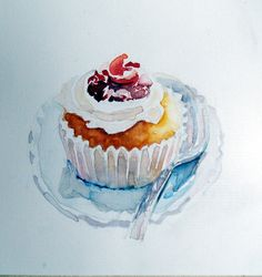 Watercolor/ Cupcake