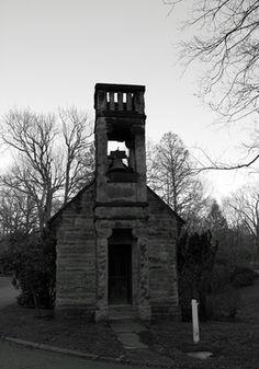 The Old Stone Chapel Union Cemetery Steubenville Ohio Black And White
