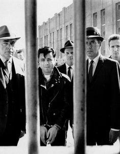 Robert Blake, John Forsythe, and Scott Wilson in In Cold Blood (1967, dir. Richard Brooks)