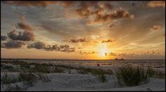 MS Gulf coast at sunset