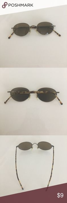 Calvin Klein Sunglasses Calvin Klein Sunglasses. For a small face. Metal rims w tortoise shell patterned arms. Calvin Klein Accessories Glasses