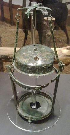 Only intact Roman lamp ever found in UK, after it is restored. The lamp dates to I-III century CE. The lantern resembles a modern hurricane lamp and the naked flame would have been protected by a thin sheet of horn — now decomposed — that had been scraped Ancient Rome, Ancient Greece, Ancient History, Roman Artifacts, Ancient Artifacts, Roman Britain, Pompeii And Herculaneum, Hurricane Lamps, Roman History