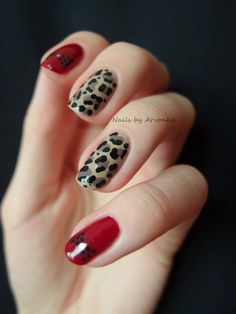 Leopard and Bows | Creative Nail Art