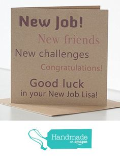Personalised New Job Card, personalised with name. Good luck in your New Job Card. Rustic New Job, new friends, new challenges card. Congratulations on New Job Card personalised. from Peppercorn Cards https://www.amazon.co.uk/dp/B06XF2SHNN/ref=hnd_sw_r_pi_awdo_wwP4ybA9T339R #handmadeatamazon