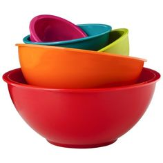 Mixing bowl set - $11.69 for 5 bowls. Important purchase. Saw a similar set at Ollie's, so I will look there first.