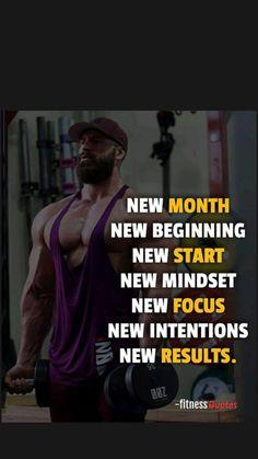 Bodybuilding Motivation Quotes, Fitness Motivation Quotes, Gym Workout Quotes, Gym Workouts, Body Building Men, Fitness Inspiration Quotes, New Month, New Start, New Beginnings